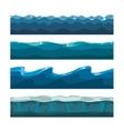 Cartoon ocean sea water waves seamless vector image