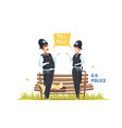 couple of male and female police officers vector image