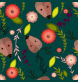 cute cartoon seamless pattern with deer and vector image
