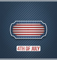 fourth of july national holiday banner vector image