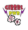 girl power tshirt design vector image