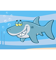 Happy Shark Cartoon Character vector image