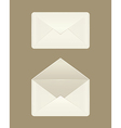 Image of a blank open and closed envelopes vector image