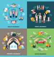 Insurance design concept vector image