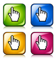 pixel cursor hand buttons vector image