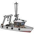 Small fishing boat vector image