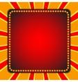 Square billboard Electric bulbs Retro light vector image