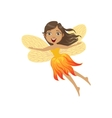 Cute Fire Fairy Girly Cartoon Character vector image