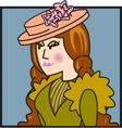 Victorian woman vector image vector image