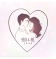 lovers in a heart vector image
