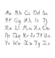 Curl alphabet vector image vector image