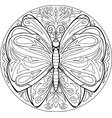 mandala butterfly vector image vector image