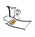 paper and cup vector image