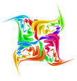 Abstract paper figure vector image