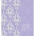 Violet Vintage Invitation Card with Floral vector image