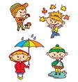 autumn children vector image vector image