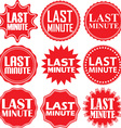 Last minute red label Last minute red sign Last vector image vector image
