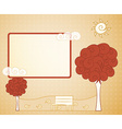abstract vintage tree vector image
