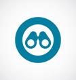 binoculars icon bold blue circle border vector image