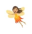 Cute Fire Fairy Girly Cartoon Character vector image