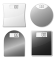 electronic scales vector image