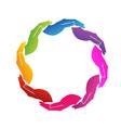 Hands support logo vector image