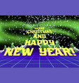 happy new year congratulation card vector image