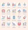 modern line icon of breastfeeding baby vector image