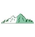 mountain peak alpine nature tourism vector image