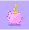 piggy bank moneybox flat illu vector image