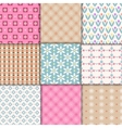 pretty pastel patterns vector image