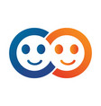 smiling faces logo design vector image