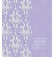 Violet Vintage Invitation Card with Floral vector image