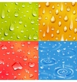 Water Drop Square Banner Set vector image