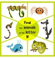 Funny learning maze game find all 3 of cute wild vector image vector image