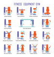 fitness equipment color vector image vector image