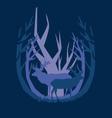 deep in the forest deer vector image vector image