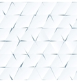 White paper cutout triangles background vector image vector image