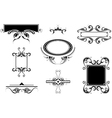 Set of vintage frames and borders vector image vector image