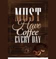 Poster Grain coffee 2 vector image vector image
