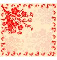 branch of the cherry blossoms vector image