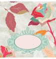 Vintage rose floral card not auto-traced EPS 8 vector image vector image