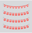 danish bunting vector image vector image