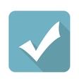 Square tick mark icon vector image