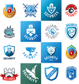 large set of logos protection vector image
