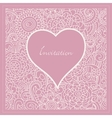 romantic invitation vector image vector image
