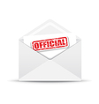 official white envelope vector image