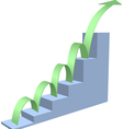 Arrow business chart vector image