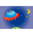 UFO spaceship vector image