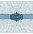 Beautiful blue invitation card vector image